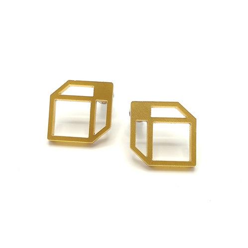 Oorbellen 'Cubes' - goud