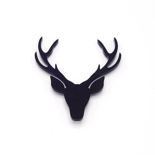 Broche 'Hert' zwart