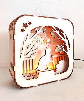 Gepersonaliseerd houten lampje: Dit lampje met naam is op maat gemaakt. Altijd mooi voor een geboorte of verjaardag.