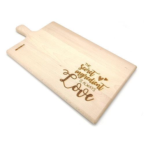 Broodplank/Snijplank 'The Secret Ingredient is Always Love'