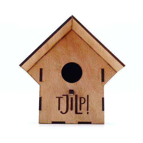 Vogelhuisje 'Tsjilp' - hout