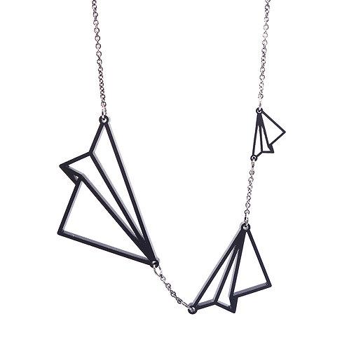 Hanger 'Vliegers' - zwart