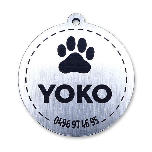 Dog Tag 'Rond' (personaliseerbaar)
