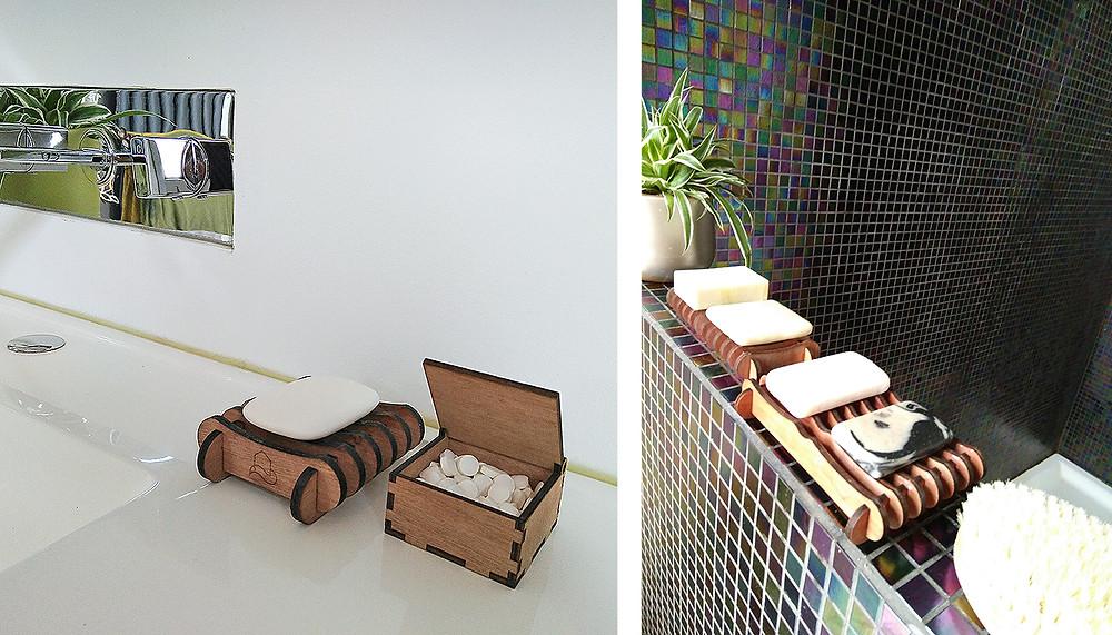 Houten zeephouder - houten doosje om tandpasta tabletjes in op te bergen