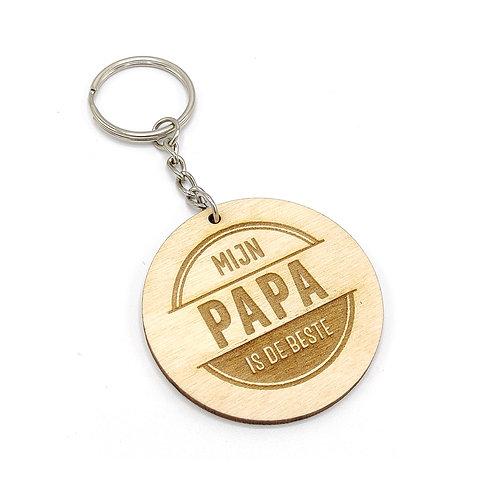 Sleutelhanger 'Mijn papa is de beste'