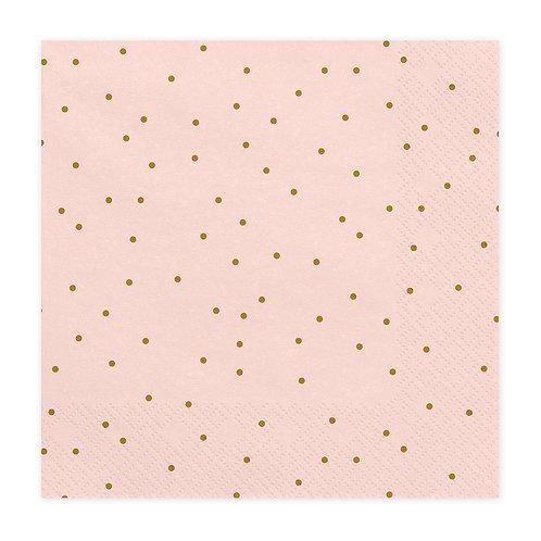 Papieren servetten - Pink Dots