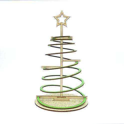 Lasercut Spiraal Kerstboom 'Groen' - klein