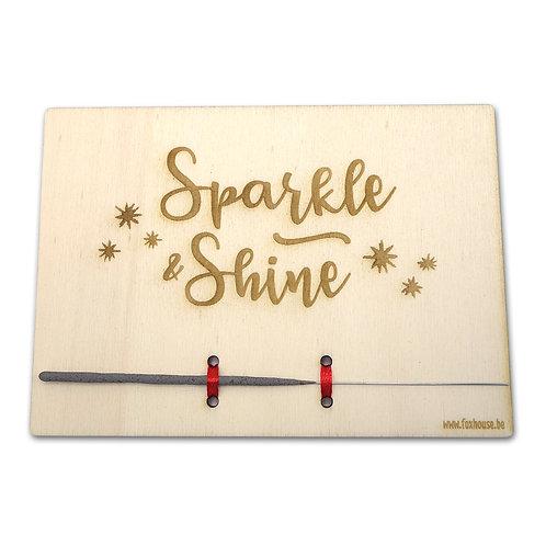 Kerstkaart 'Sparkle & Shine'