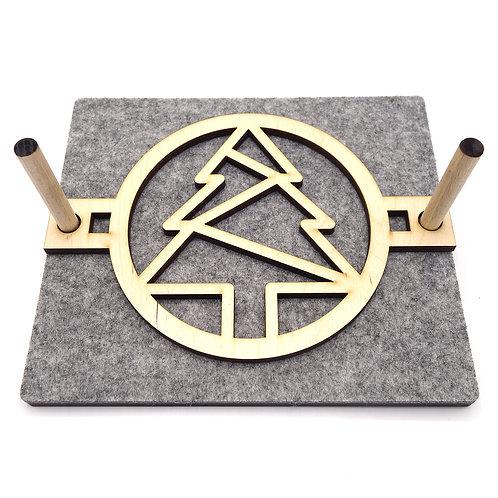 Servet houder 'Kerstboom' - hout/vilt