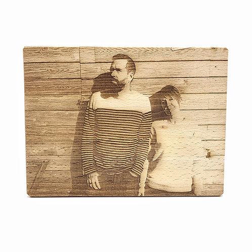 Foto op massief houten plank 15x20