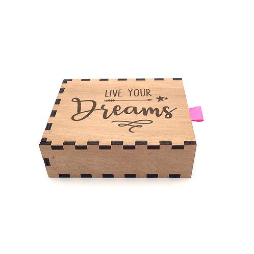 Schuifdoosje 'Live Your Dreams'
