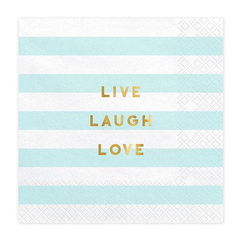 Papieren servetten - Live Laugh Love