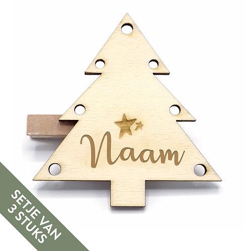 Naamspeldjes Kerstboom