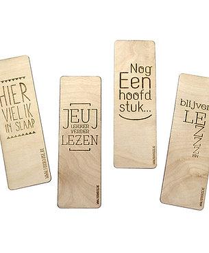 Set houten bladwijzers