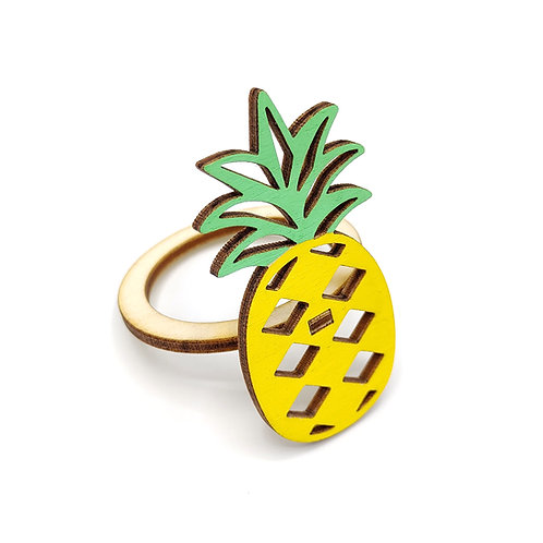 Servetring 'Pineapple' (set van 3 stuks)