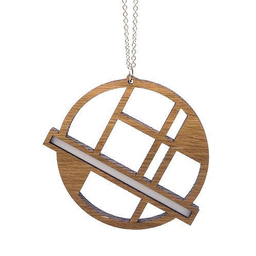 Hanger 'Circle' - hout/wit