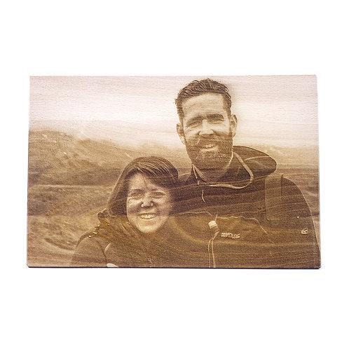 Foto op massief houten plank 20x30