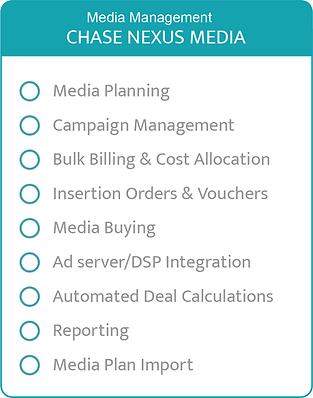 Chase Nexus Media Planning Buying