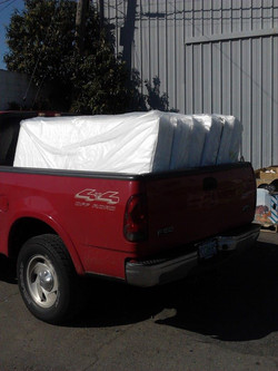 Delivering beds to our new residents