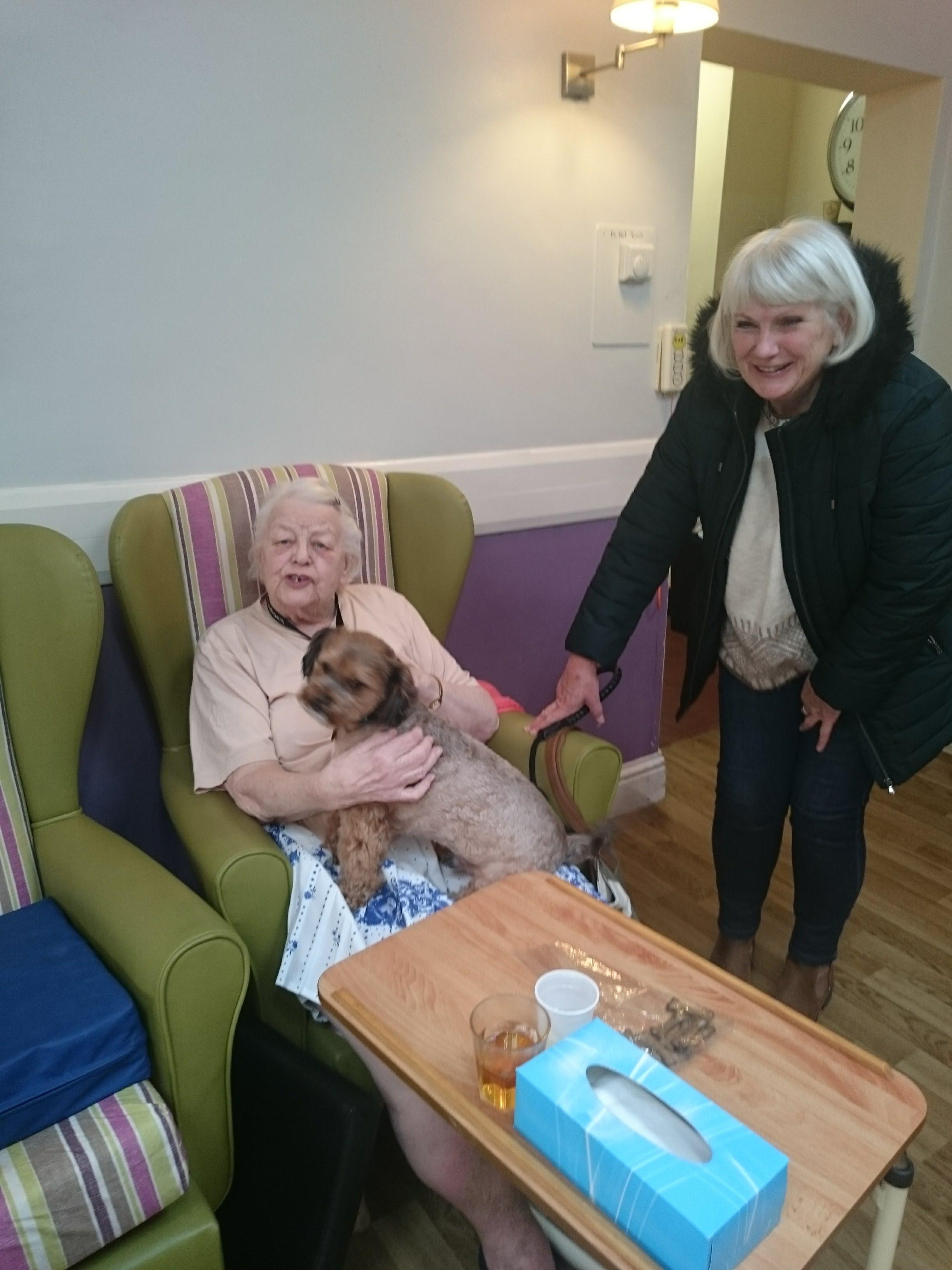 Weekly visit from Cassie & Bracken