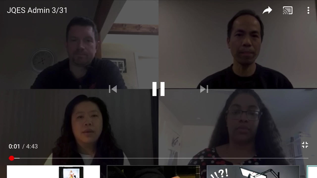 JQES Administration Video Message, 3/31/20