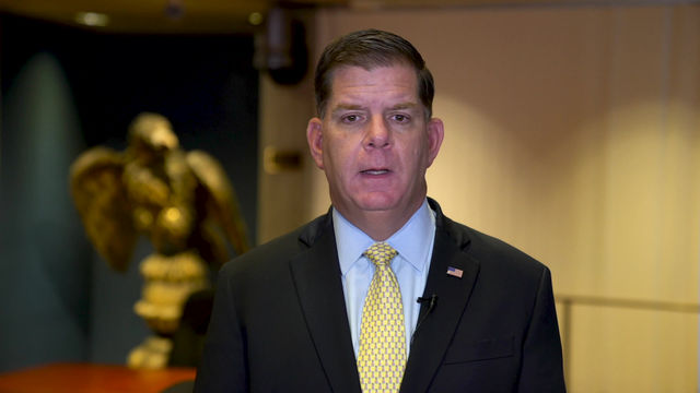 Mayor Walsh addresses the JQES Community in Celebration of its 173rd Anniversary