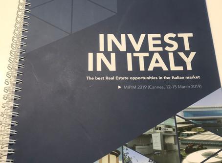 MIPIM 2019: Invest in Italy - Le migliori opportuntà di investimento nell'immobiliare in Italia