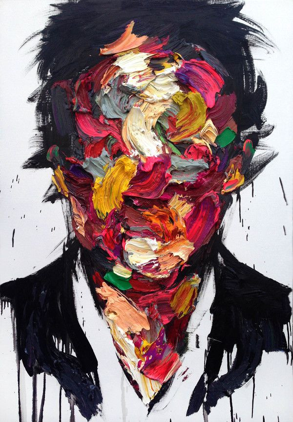 A male face by South Korean painter KwangHo Shin