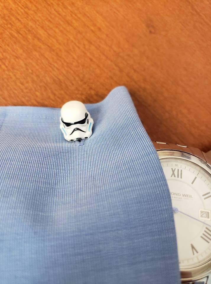 Star Wars stormtrooper cufflink