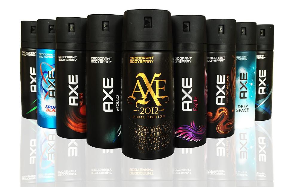 Many versions of Axe Body Spray