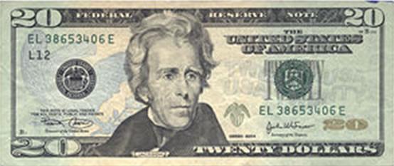 Crisp $20 bill