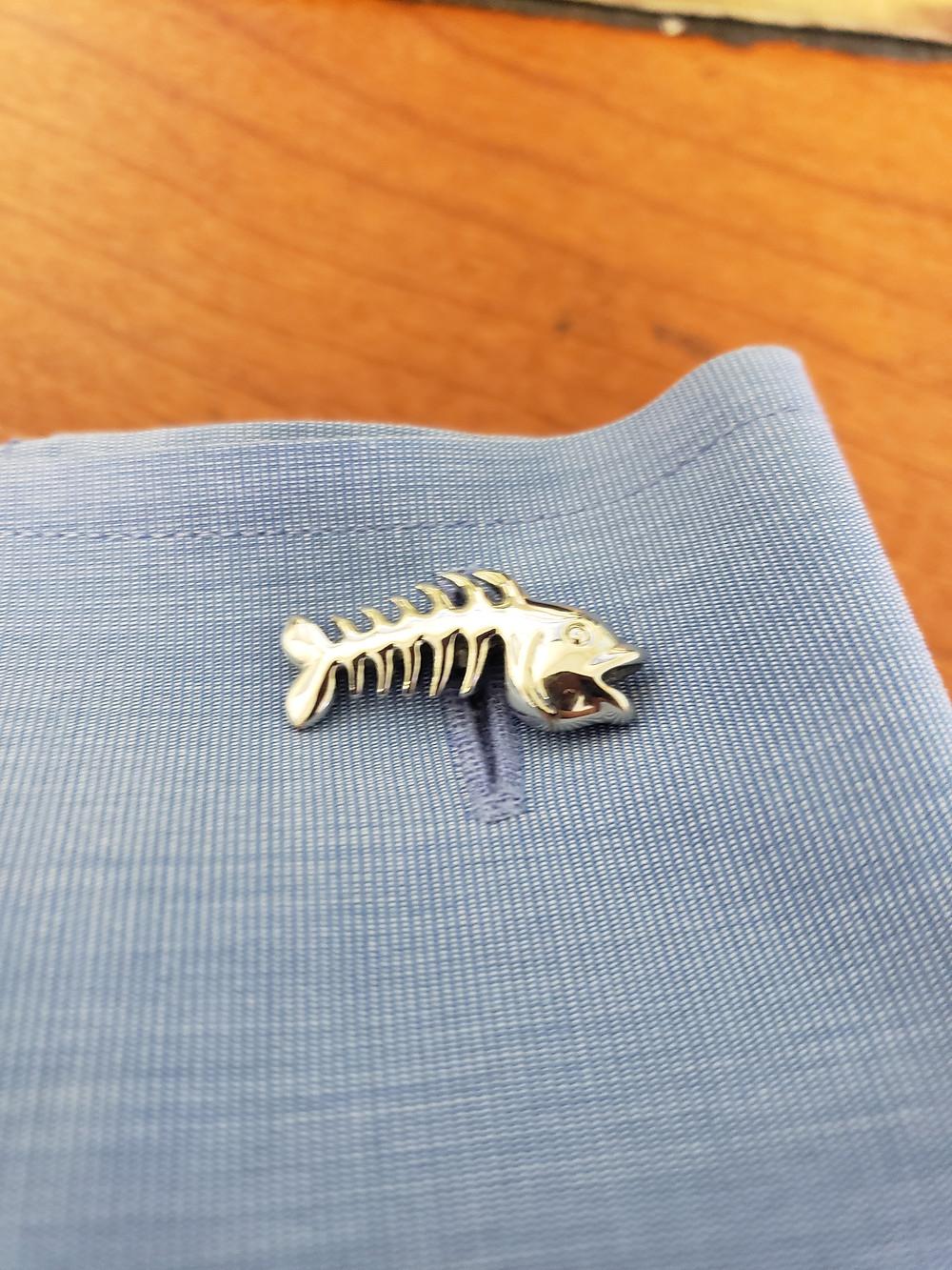 Fish Skeleton Cufflinks