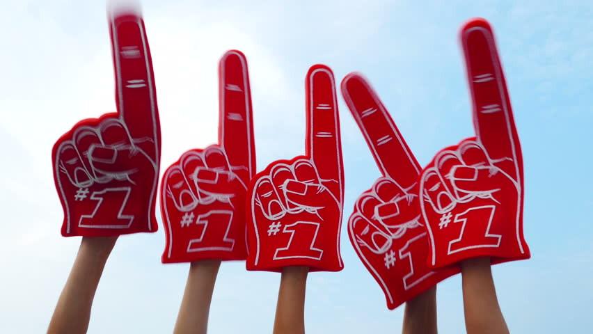 We're #1 foam fingers