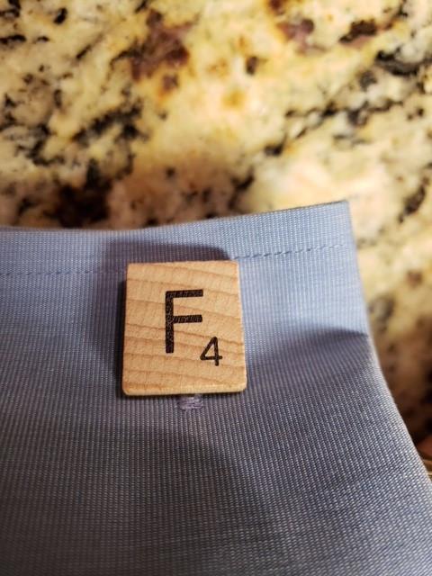 """F"" Scrabble tile"
