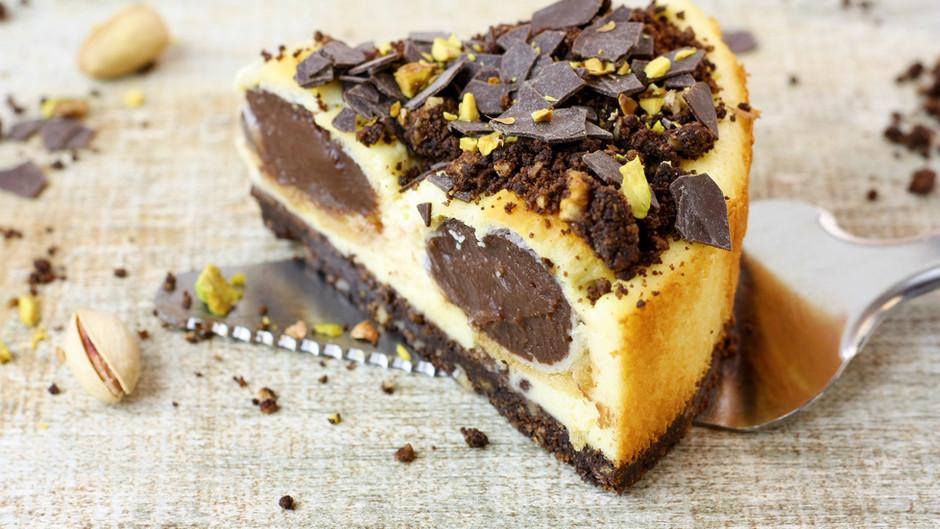 Cheesecake cu profiterol/ Profiteroles Cheesecake