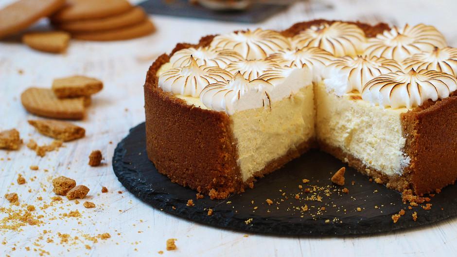 Cheesecake cu bezea italiană