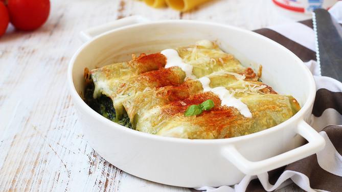 Cannelloni cu smântână și verdeață