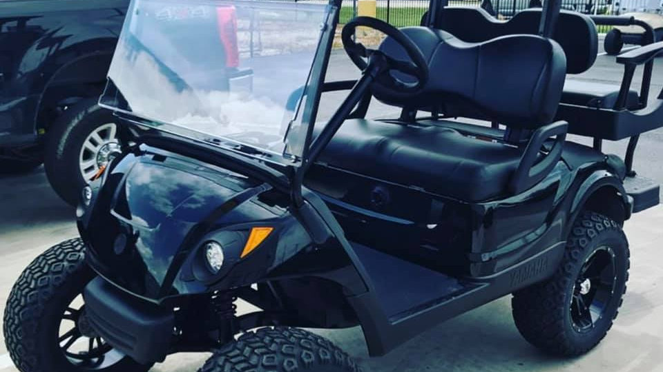 2016 Yahmaha Electric Black Golf Cart