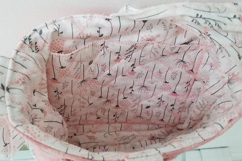 Reversible quilted kids handbag