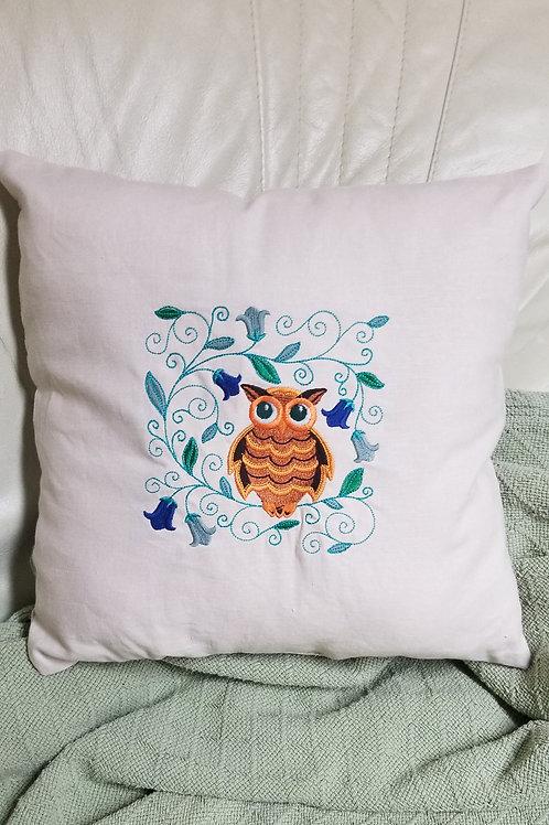 Embroidery throw pillows