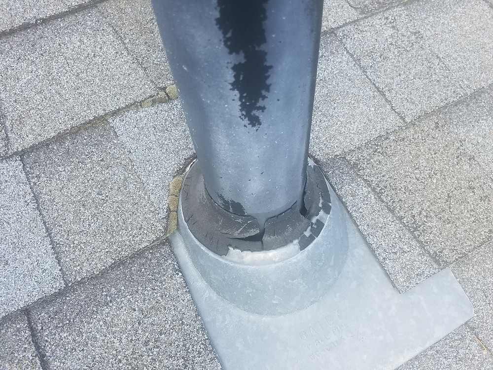 Damage from a small leak