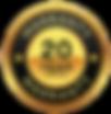 20 Year Limited Warranty Badge - Transpa