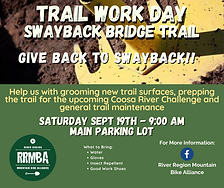 Swayback Trail Work Day Saturday, Sept 1