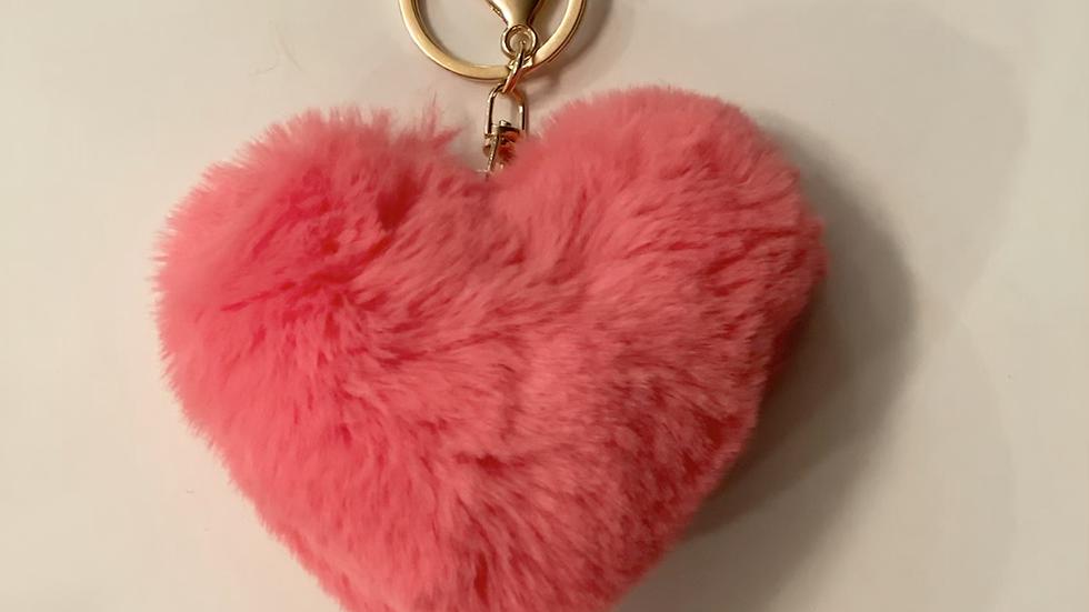 Fury heart keychain