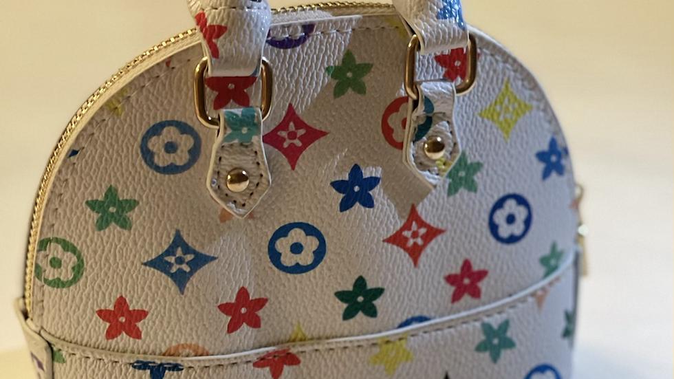 White/colorful purse