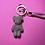 Thumbnail: Iced out diamond bear keychain