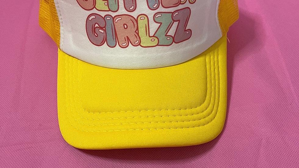 Yellow trucker hat