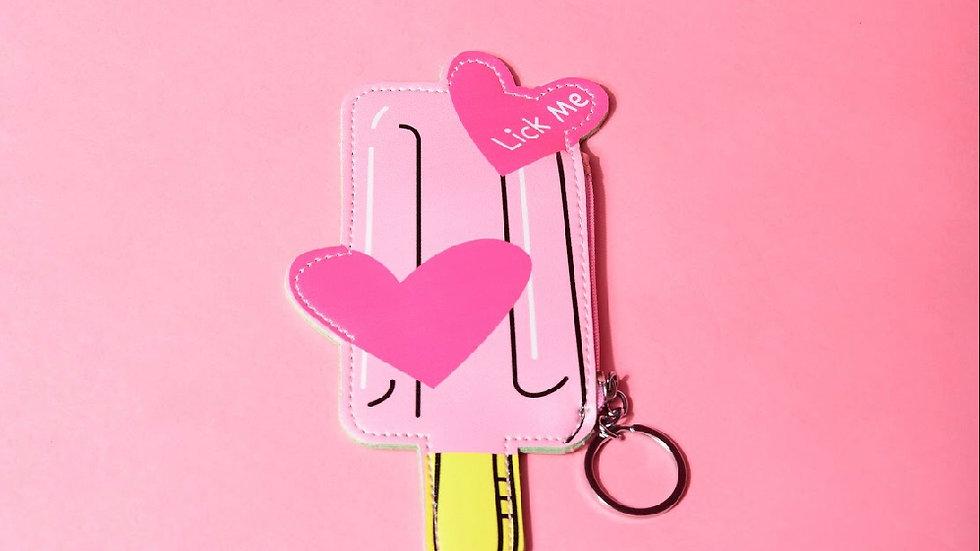 glitter girlzz keychain wallet