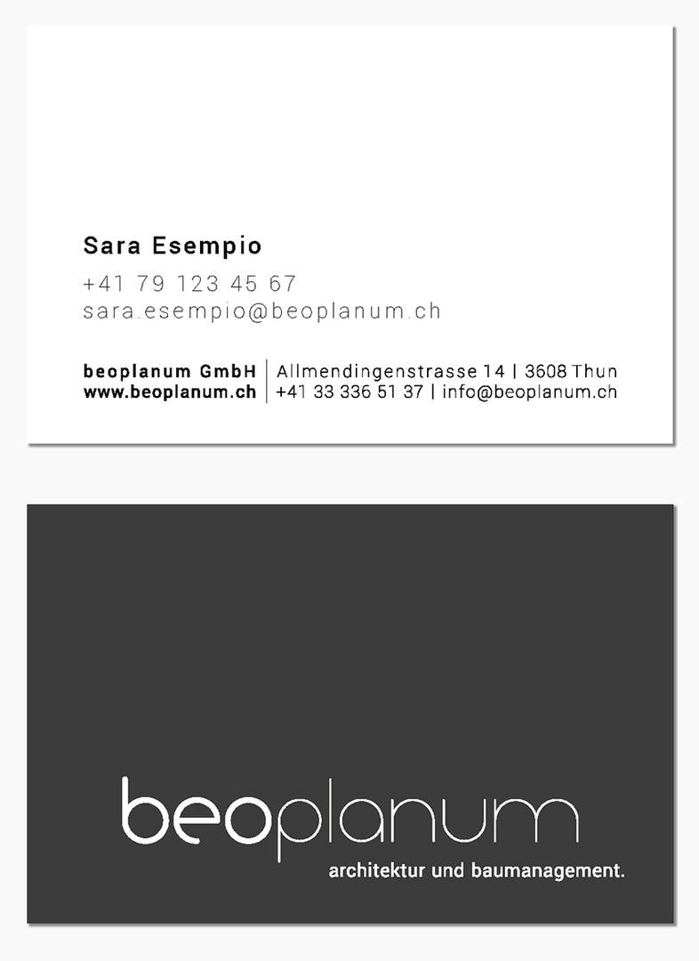 Visitenkarte beoplanum