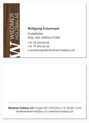 Visitenkarte Wiedmer Holzbau